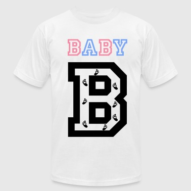 Twins- baby gender reveal for baby B - Men's Fine Jersey T-Shirt