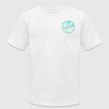 Kangaroo outline in a circle - Men's Fine Jersey T-Shirt