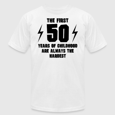 The First 50 Years Of Childhood - Men's Fine Jersey T-Shirt