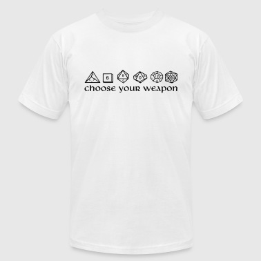 choose your weapon - Men's T-Shirt by American Apparel