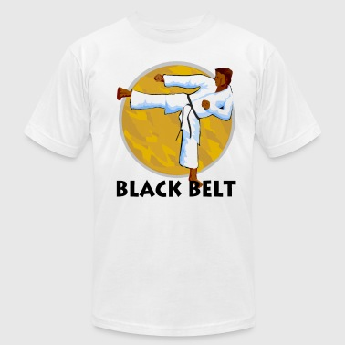 Martial Arts Black Belt - Men's Fine Jersey T-Shirt