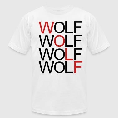 wolf_red - Men's Fine Jersey T-Shirt