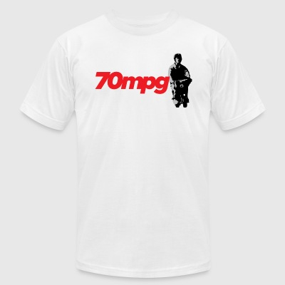 70 MPH - Men's T-Shirt by American Apparel