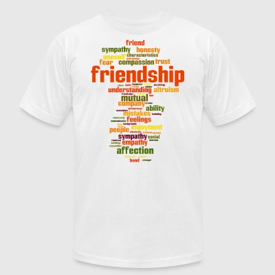 friendship - Men's T-Shirt by American Apparel