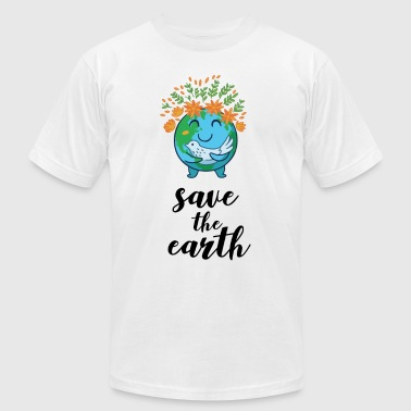Earth day - Men's T-Shirt by American Apparel