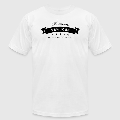 Born in San Jose - Men's T-Shirt by American Apparel