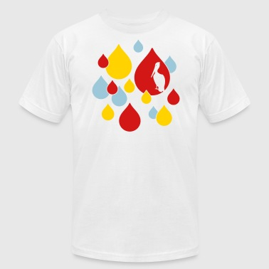 Water Drops - Men's Fine Jersey T-Shirt