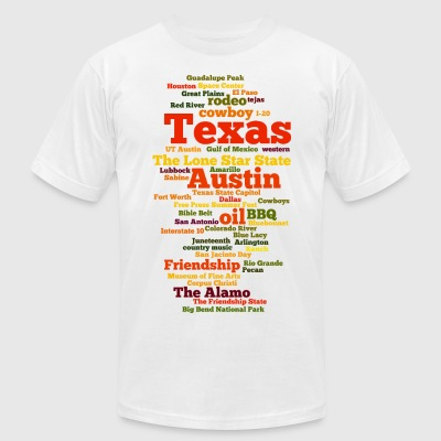 Texas (US state, The Lone Star State) - Men's T-Shirt by American Apparel