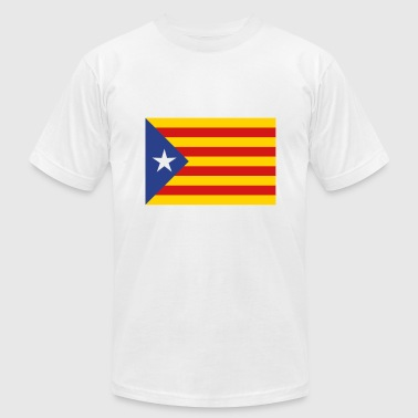 Catalunya Flag - Men's T-Shirt by American Apparel