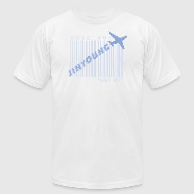 got7_jinyoung_flight log - Men's T-Shirt by American Apparel
