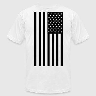 American Flag - Men's Fine Jersey T-Shirt