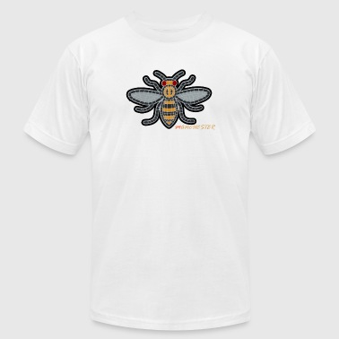 Manchester Bee - Men's T-Shirt by American Apparel