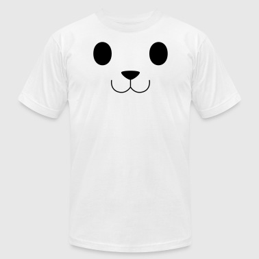 Teddy Face - Men's T-Shirt by American Apparel