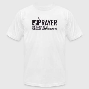 Prayer - Prayer - the best form of wireless comm - Men's Fine Jersey T-Shirt