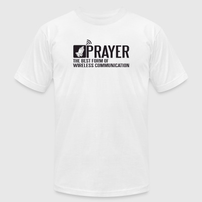 Prayer - Prayer - the best form of wireless comm - Men's T-Shirt by American Apparel