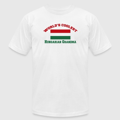 Hungarian - world's coolest hungarian grandma - Men's T-Shirt by American Apparel