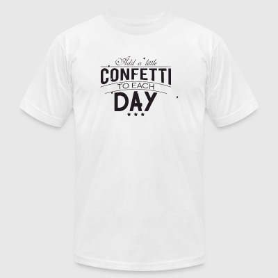 Confetti - Add a little confetti to each day - Men's T-Shirt by American Apparel