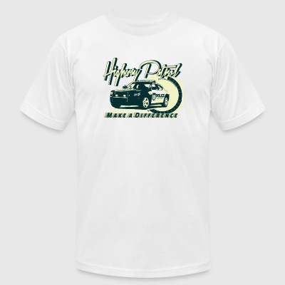Police - Highway Patrol v2 - Men's T-Shirt by American Apparel