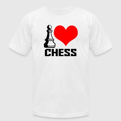 CHESS - I LOVE CHESS - Men's T-Shirt by American Apparel