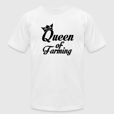 Farmer - Queen of farming - Men's T-Shirt by American Apparel
