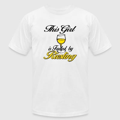 Riesling - this girl is fueled by riesling - Men's T-Shirt by American Apparel