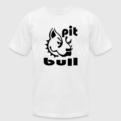 PitBull - Pit Bull Head - Men's T-Shirt by American Apparel