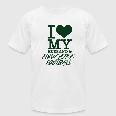New york - I Love My Husband & Newyork Football - Men's T-Shirt by American Apparel