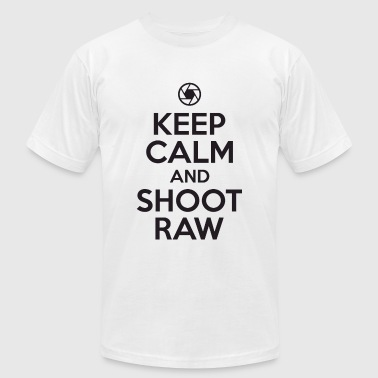 Photographer - Keep calm and shoot raw - Men's T-Shirt by American Apparel