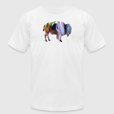 Bison - Men's T-Shirt by American Apparel