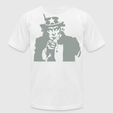 American Uncle Sam Wants You  - Men's Fine Jersey T-Shirt