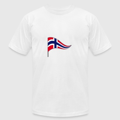 Norway Oslo Scandinavian Flag Banner Flags - Men's T-Shirt by American Apparel