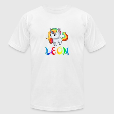 leon Unicorn - Men's T-Shirt by American Apparel