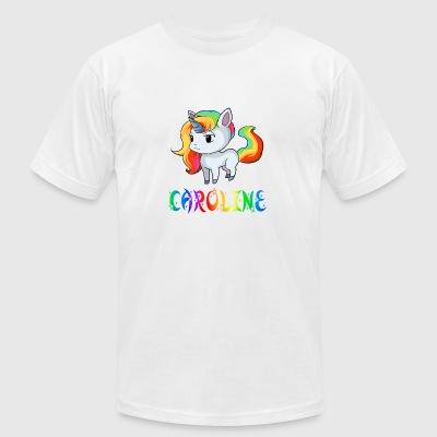 Caroline Unicorn - Men's T-Shirt by American Apparel