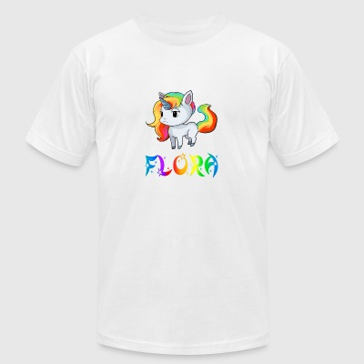 Flora Unicorn - Men's T-Shirt by American Apparel