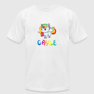 Gayle Unicorn - Men's T-Shirt by American Apparel