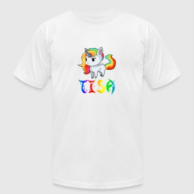 Tisa Unicorn - Men's T-Shirt by American Apparel