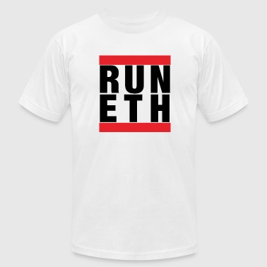 Run Ethereum - Men's T-Shirt by American Apparel