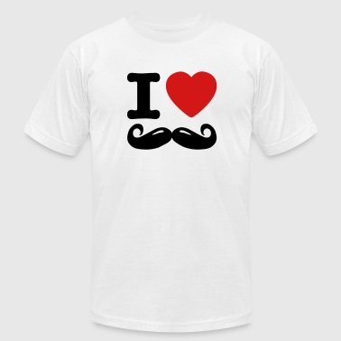 i love moustache / I heart moustache - Men's Fine Jersey T-Shirt