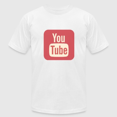 YouTube v1 - Men's T-Shirt by American Apparel