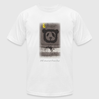 Pirate Art NYC street art-pirate bear - Men's Fine Jersey T-Shirt
