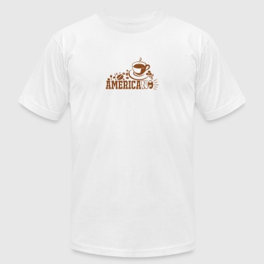 Americano Coffee - Men's T-Shirt by American Apparel