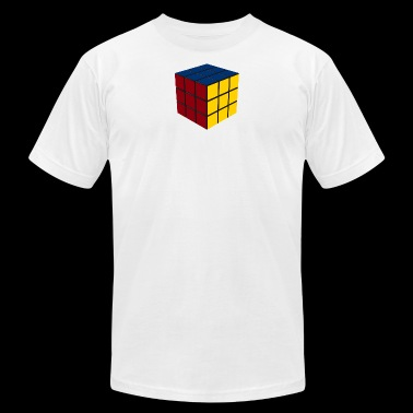Game Cube SOLVED - Men's Fine Jersey T-Shirt