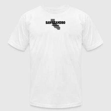 CALIFORNIA SAN LEANDRO US STATE EDITION - Men's Fine Jersey T-Shirt