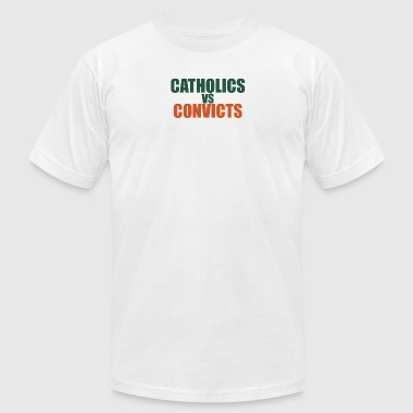 catholics-vs-convicts-shirt - Men's T-Shirt by American Apparel