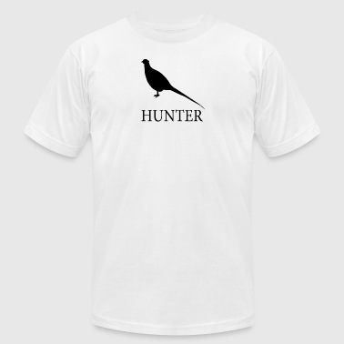 Pheasant Hunter - Men's T-Shirt by American Apparel