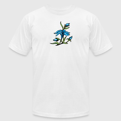 blue_flowers_2 - Men's T-Shirt by American Apparel