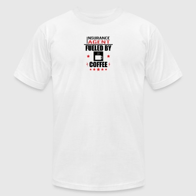 Insurance Agent Fueled By Coffee - Men's T-Shirt by American Apparel
