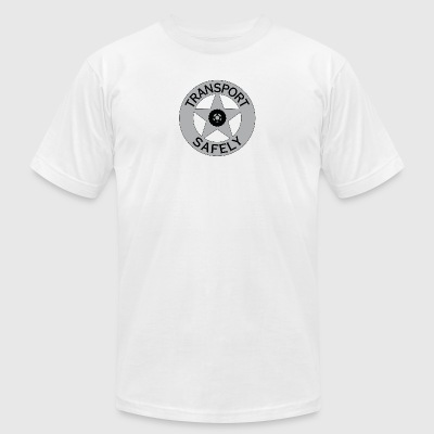 Transport Safely Logo - Men's T-Shirt by American Apparel