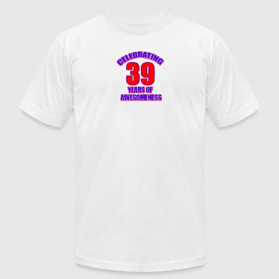 39th birthday design - Men's T-Shirt by American Apparel