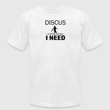 discus throw design - Men's T-Shirt by American Apparel